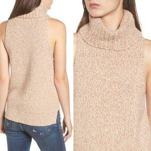 madewell // sleeveless turtleneck cream sweater